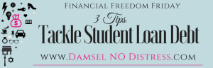 Tips To Take Student Loan Debt | DamselNODistress.com